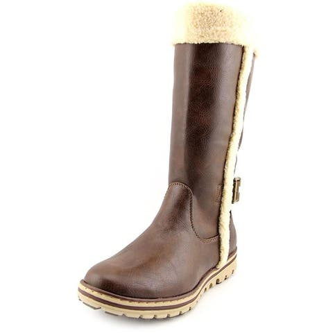 Cliffs by White Mountain Womens Kesha Fabric Almond Toe Mid-Calf Cold Weather...