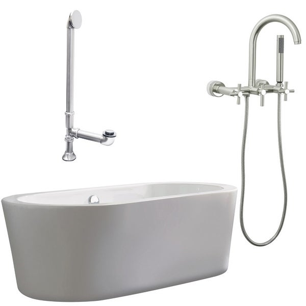 "Giagni LV1-C Ventura 67"" Free Standing Soaking Tub Package"
