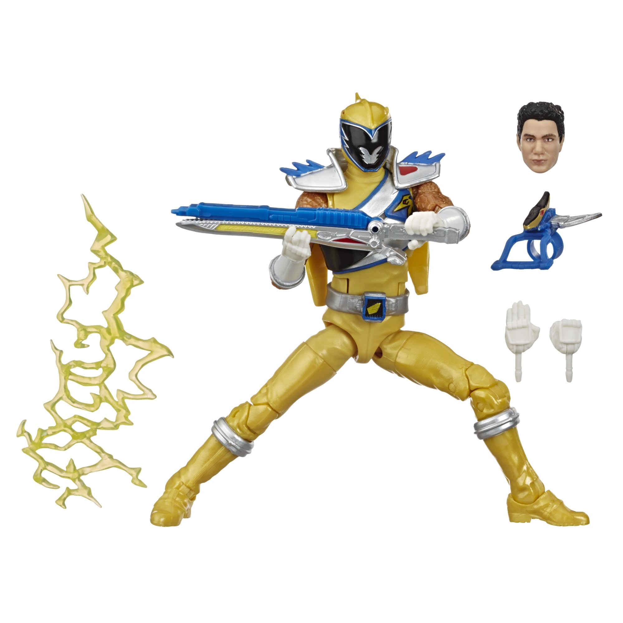 Power Rangers Lightning Collection Mighty Morphin Black Ranger 6-Inch Premium Collectible Action Figure Toy with Accessories