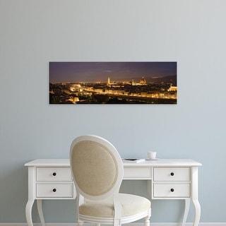 Easy Art Prints Panoramic Image 'Ponte Vecchio, Duomo Santa Maria Del Fiore, Florence, Tuscany, Italy' Canvas Art