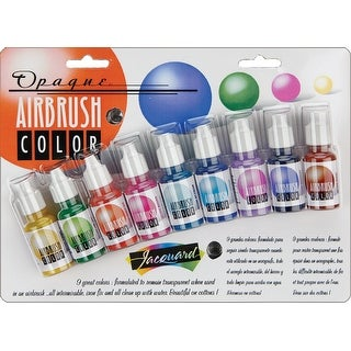 Jacquard Opaque Airbrush Exciter Pack .5Oz 9/Pkg-