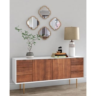 Eliza Metal Accent Wall Mirror - 14 x 14