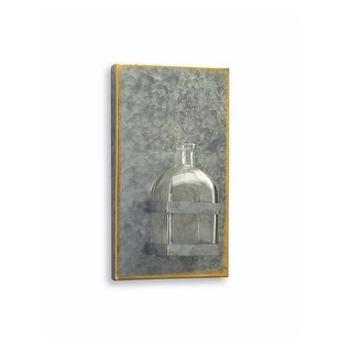 """10"""" Farmhouse Chic Tin Plaque with Glass Bottle Wall Decor"""