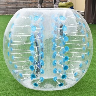 Costway 1 PC 1.5M Inflatable Bumper Ball Body Zorbing Ball Zorb Bubble Soccer/Football - Blue