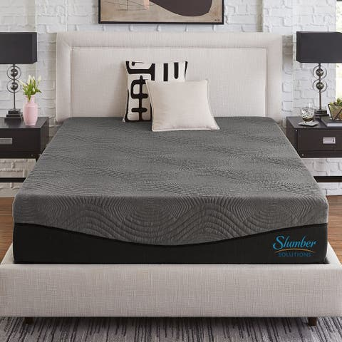 Slumber Solutions Active 10-inch Charcoal Memory Foam Mattress