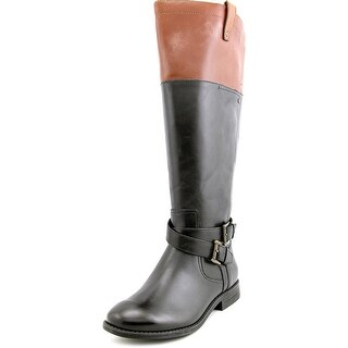 Marc Fisher Audrey Wide Calf Women Round Toe Leather Knee High Boot