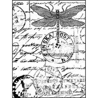 """Crafty Individuals Unmounted Rubber Stamp 4.75""""X7"""" Pkg-Dragonfly Post"""