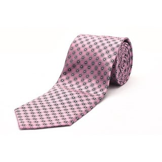 Ermenegildo Zegna Men Slim Silk Neck Tie Pink