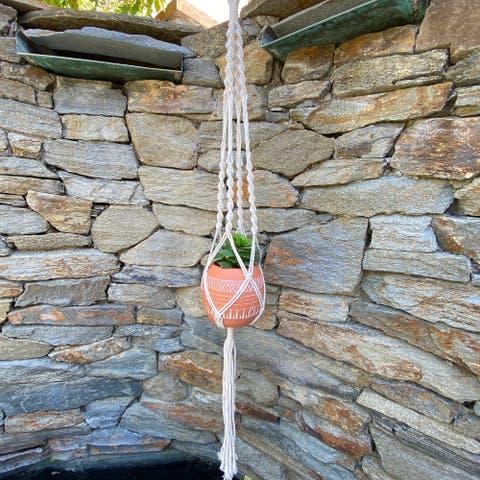 """41"""" H hanging macrame planter hanger"""