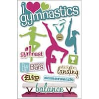 "Gymnastics - Paper House 3D Stickers 4.5""X8.5"""