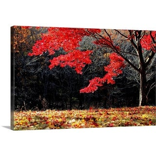 """""""Red tree"""" Canvas Wall Art"""
