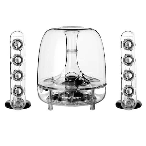 Harman Kardon SoundSticks III 2.1 Plug and Play Multimedia Speaker System - Clear