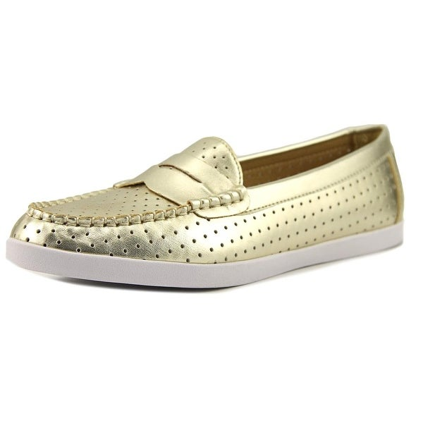 Wanted Carmel Women Round Toe Synthetic Gold Loafer