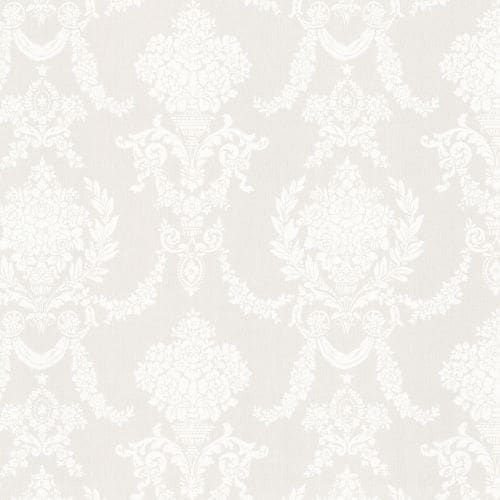 Brewster 2668-21538 Sophia Grey Damask Wallpaper