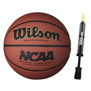"Wilson 29.5"" Official NCAA Game Basketball with 6"" Clear Pump"