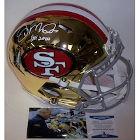 dd6d58dded3 Joe Montana Autographed Hand San Francisco 49ers Chrome Full Size Authentic  Proline Helmet BAS Bec