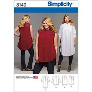 18W-20W-22W-24W - Plus Size Shirt With Length And Sleeve Variations