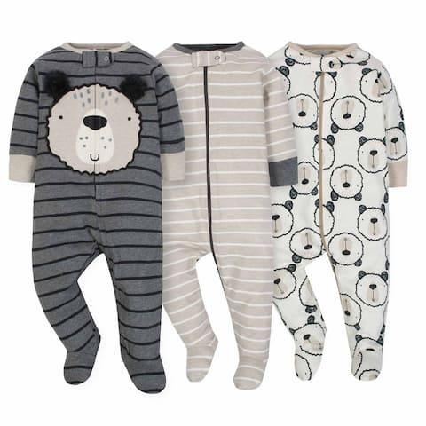 Gerber Baby 3-Pack Boys Bear Sleep N' Play - Limited Edition