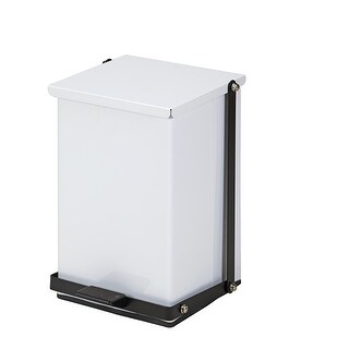 Clinton 24 Quart Premium White Waste Receptacle -Step-on Hands Free