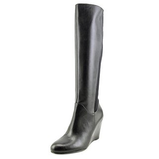 Nine West Obladeeo Women Round Toe Leather Black Knee High Boot