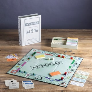 Unisex-Adult Vintage Bookshelf Board Game: Monopoly - Faux Hardcover Book Box - MultiColor