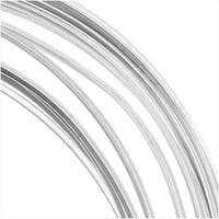 Beadalon Silver Filled Wire, Half Hard / Square 22 Gauge Thick, 0.5 Ounces, Silver