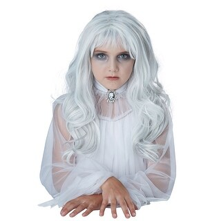 Child Ghost Halloween Wig - standard - one size