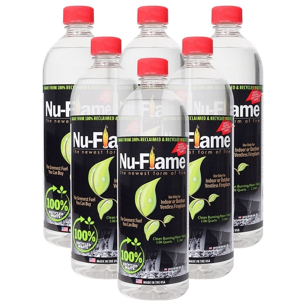 Bluworld Nu Flame Bio Ethanol Fuel 6 Pack