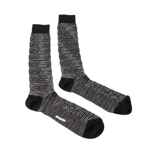 Missoni GM00CMU5244 0006 Black/White Knee Length Socks - L
