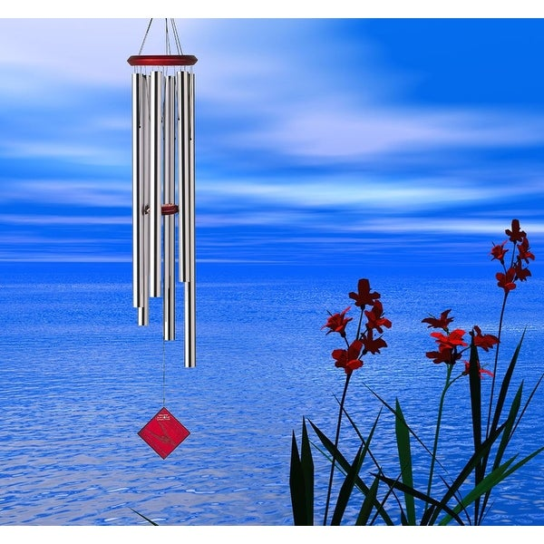 Woodstock Encore Collection Silver Chimes of Neptune Windchime