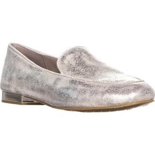 Donald J Pliner Honey Square Toe Loafers, Platino - 7 us