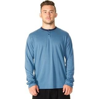 RVCA VA Sport Plata Long Sleeve Henley - Desert Blue (2 options available)