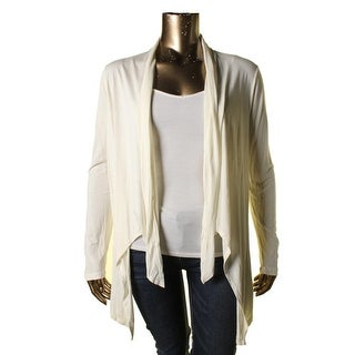 Cable & Gauge Womens Asymmetric Open Front Cardigan Top