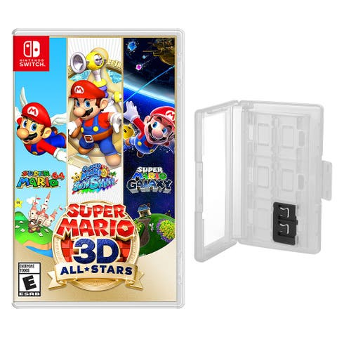 Super Mario 3D All Stars and Game Caddy for the Nintendo Switch - Clear