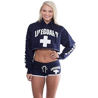 Official Lifeguard Cropped Hoodie Long Sleeve Pullover For Women.