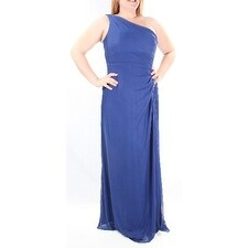 $199 ALEX EVENINGS New Womens 1004 Blue Sleeveless Empire Waist Dress 14 B+B