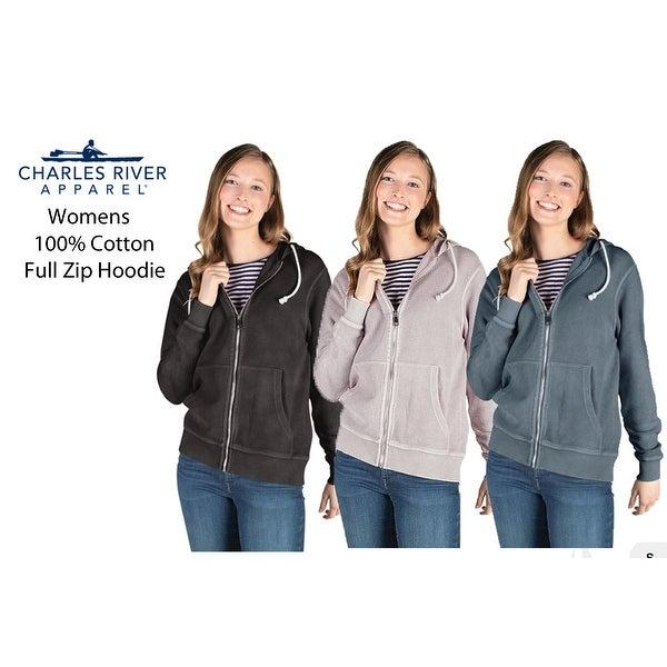 Women's Full Zip 100% Cotton Hoodie. Opens flyout.