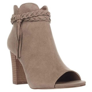 XOXO Belina Peep-Toe Ankle Booties, Taupe