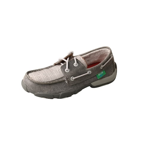 Twisted X Casual Shoes Boy Driving Moc D Toe Lace Gray