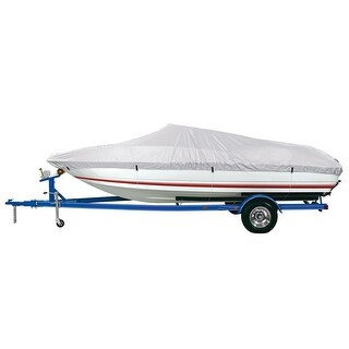 """Dallas Manufacturing Co. Reflective Polyester Boat Cover D- 17'-19' V-Hull & Runabouts-Beam Width to 96"""" - BC1301D"""