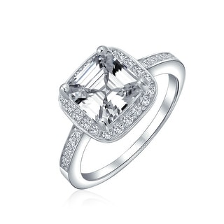 Link to Square AAA CZ Asscher Cut 925 Sterling Silver Band 3CT Engagement Ring Similar Items in Rings