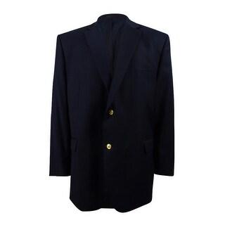 Lauren Ralph Lauren Men's Big and Tall Total Comfort Blazer (50L, Navy) - Navy - 50 Long