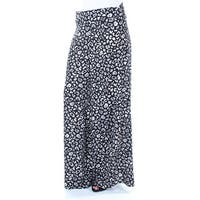 Womens Black Animal Print Casual Pants  Size  S