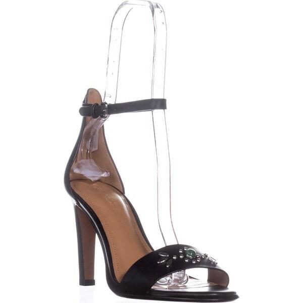 Coach Indi Ankle Strap Dress Sandals, Black - 8 us / 38 eu
