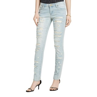 Blank NYC Womens Skinny Jeans Destroyed Low-Rise