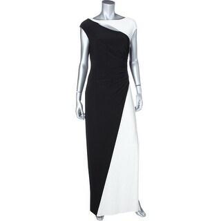 Lauren Ralph Lauren Womens Evening Dress Cap Sleeves Prom
