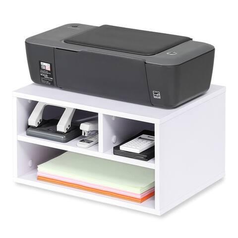 FITUEYES Wood Printer Stands, Desktop Storage Organizers