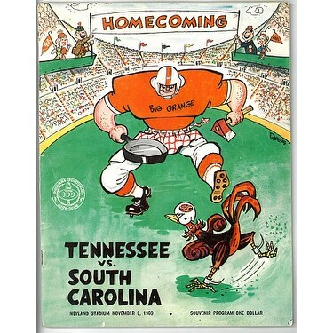 737b1863 Tennessee Volunteers vs South Carolina Gamecocks Vintage College Football  Game Program November 8 1