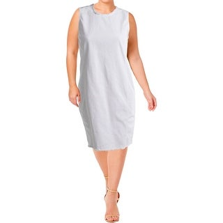 Lauren Ralph Lauren Womens Casual Dress Sleeveless Denim