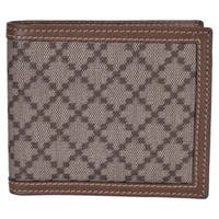"Gucci Men's 225826 Beige Taupe Canvas Leather Diamante Bifold Wallet - 4.25"" x 3.5"""